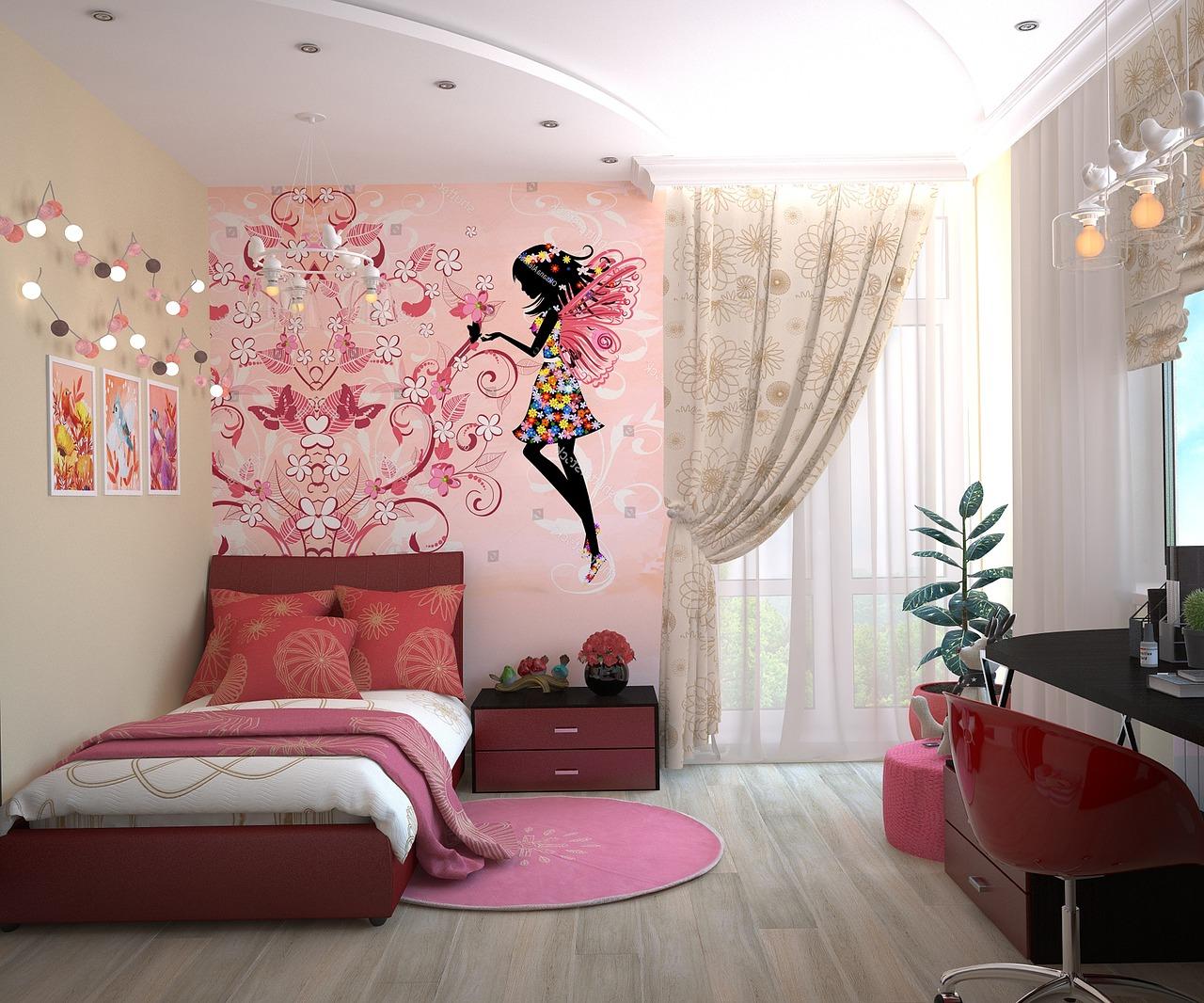 Quelle matière utiliser pour la décoration de la chambre de votre fille ?